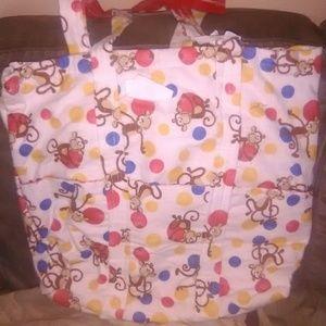 Diaper bag and blanket